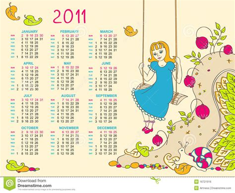 Sell Calendar Photos Children S Calendar For 2011 Royalty Free Stock Image