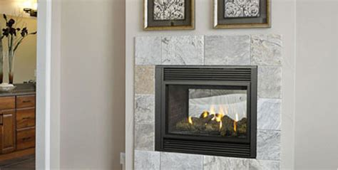 2 Sided Gas Fireplace by P121 Two Sided Gas Fireplace Four Seasons Air