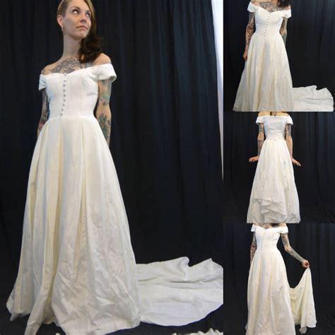 vintage mcclintock bridal wedding dress with