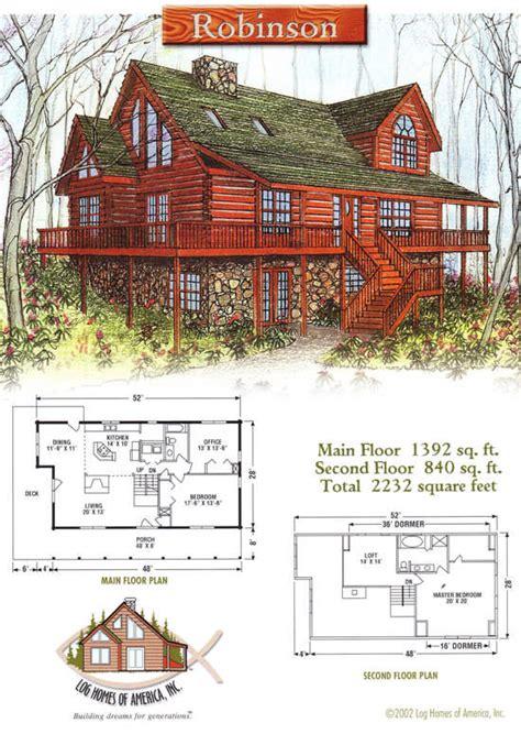 robinson log home floor plan by log homes of america