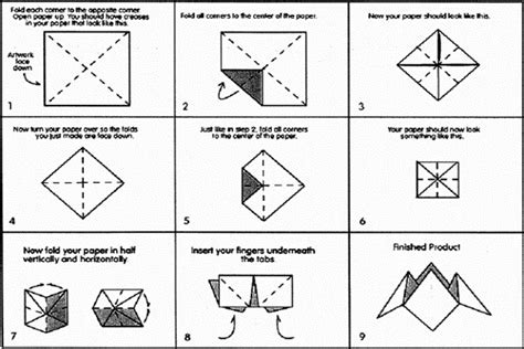 How To Make A Cootie Catcher Out Of Paper - how to make a cootie catcher fold a cootie catcher