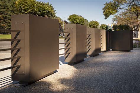 restaurant patio fence restaurant patio planters metal tubing fence industrial landscape detroit by pearhut