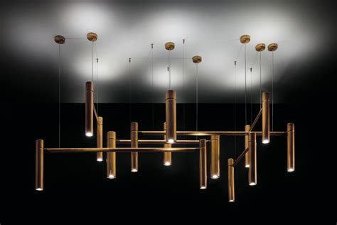 Henge Lighting by Tubular Horizontal Ceiling Pendant Lights In Metal From