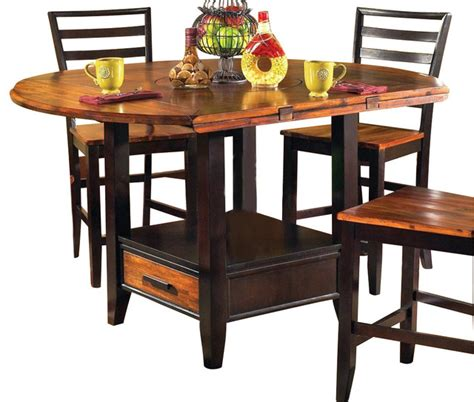 Drop Leaf Counter Height Table Steve Silver Abaco Drop Leaf 59 Inch Counter Height Table Contemporary Dining Tables