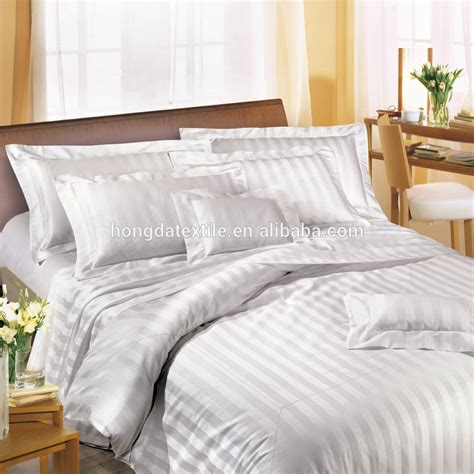 hotel bed sheets 100 cotton 300 thread count stripe sateen used hotel bed