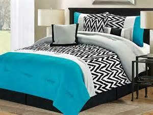Popular Bed Sets 7 Pc Bentley Comforter Set Blue