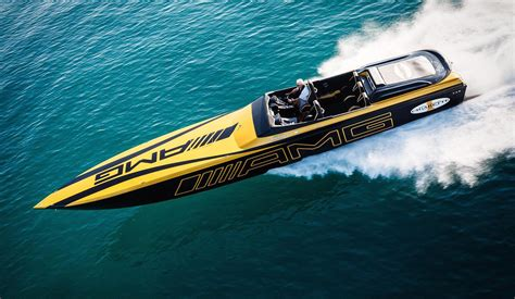 cigarette boat to bahamas mercedes amg inspired cigarette boat delivers blow your