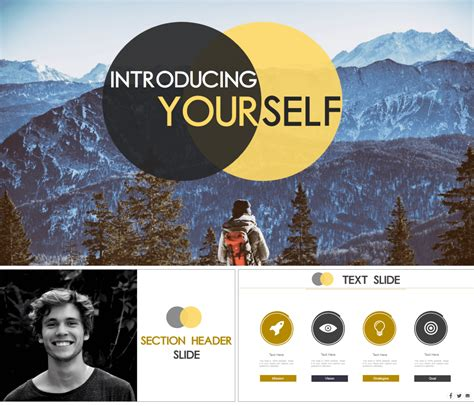 7 Amazing Powerpoint Template Designs For Your Company Or Personal Use The Slideteam Blog Self Presentation Template