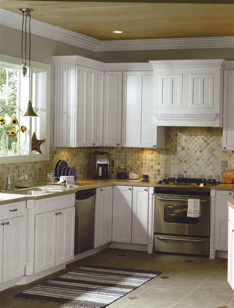 Country Kitchen With White Cabinets by Best Floor And Counter Color For White Kitchen Cabinets