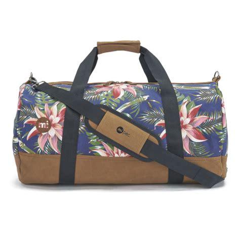 mi pac palm floral duffle bag navy clothing thehut