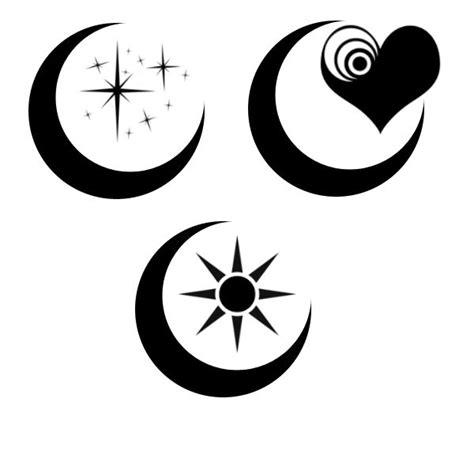 black moon stars tattoo design best 25 crescent moon tattoos ideas on moon