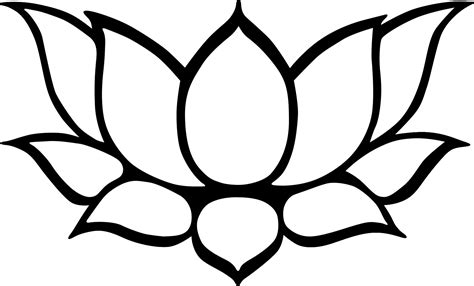 Lotus Black And White Outline by Lotus Drawing Black And White Clipart Best