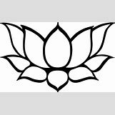 Lotus Flower Black And White Drawing | 1670 x 1010 png 290kB
