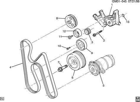 how to replace tensioner pulley 1995 buick riviera tensioner drive belt