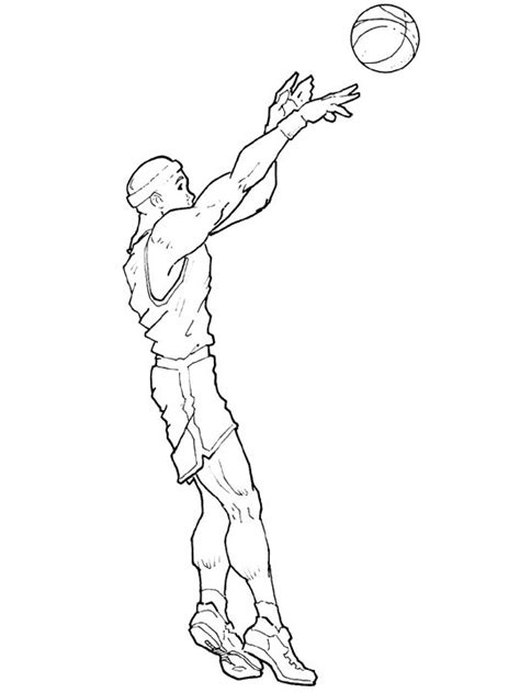 Basketball Player Coloring Pages Coloring Part 3 Basketball Player Coloring Pages