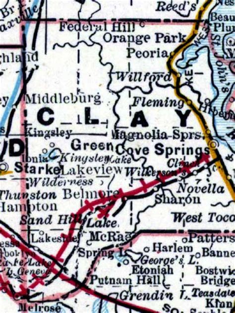 Clay County Fl Search Clay County 1889