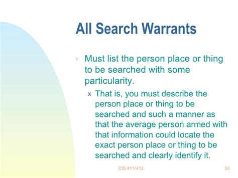 What Must A Search Warrant Contain Search Warrants