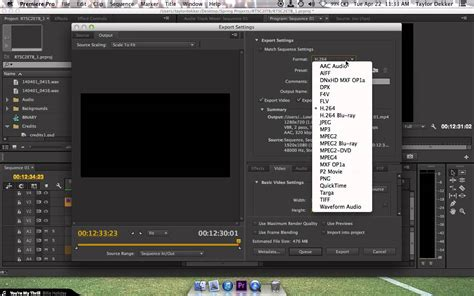 adobe premiere export video format exporting in hd for h 264 mp4 in premiere pro cc