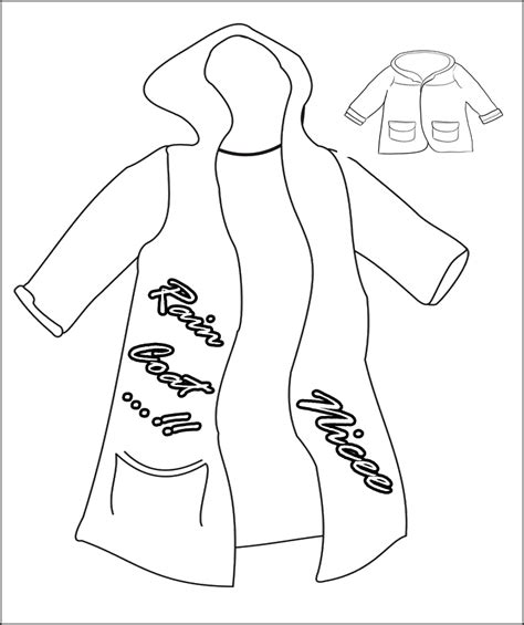 imagenes para colorear winter rain coat long and cool coloring for kids winter