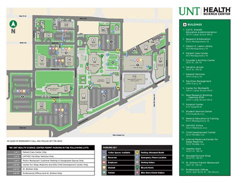 texas center parking map cus map