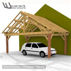 Garage Plan Shop Abris 2 Pans Charpente Bois Wood Structure