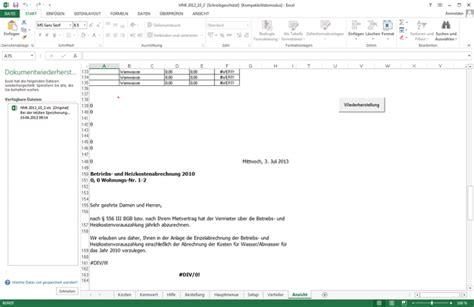 Anschreiben Nebenkostenabrechnung Heiz Und Nebenkosten F 252 R Excel Freeware De