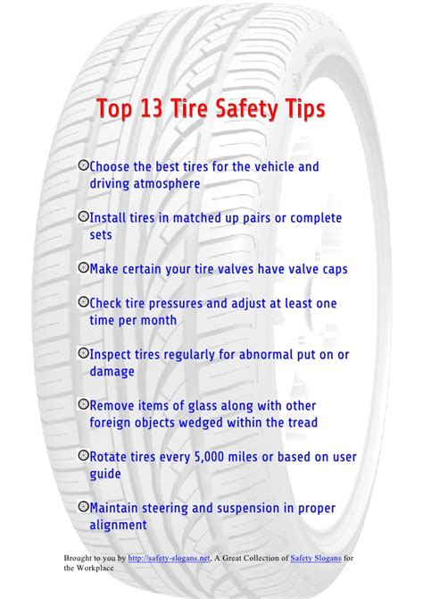 best tips top 13 tire safety tips