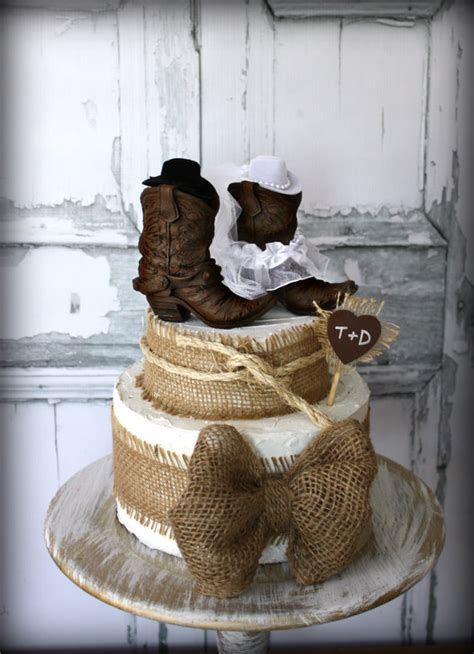 Western Wedding Cakes by Cowboy Boots Boots Wedding Cake Topper Western