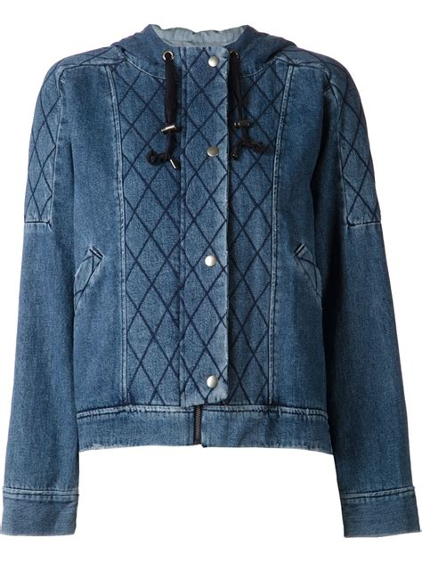 Quilted Denim Jacket by Sea Quilted Denim Jacket In Blue Lyst