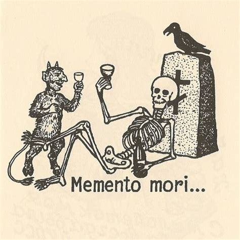 death and the devil have a cocktail memento mori tattoo