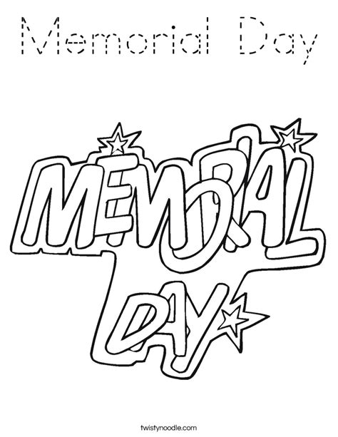 coloring page memorial day memorial day coloring page tracing twisty noodle