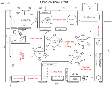 floor plan for preschool kindergarten classroom layout preschool classroom layout