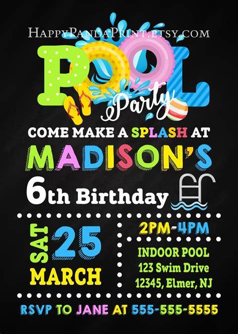 pool party evite