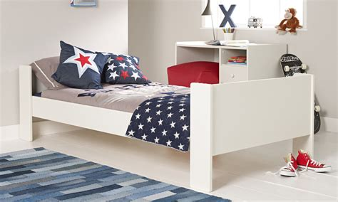 solitaire white single bed