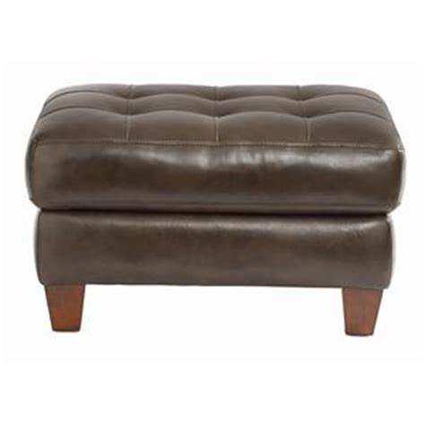 bassett leather ottoman bassett mercer right chaise leather sectional