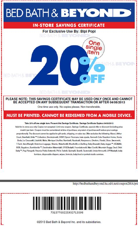 printable coupon bed bath and beyond in store printable coupons discounts and deals printable