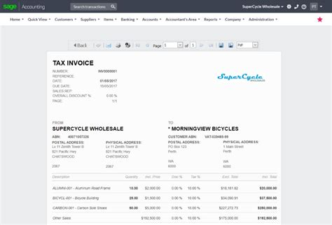For Small Business Sage Business Cloud Accounting Australia Cloud Business Template