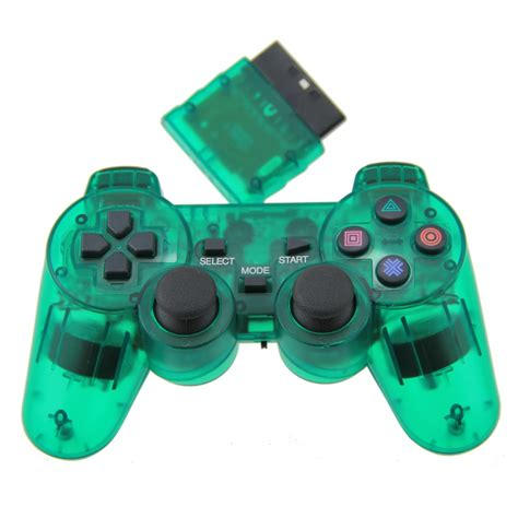 Ps 2 Playstation 2 clear green for ps2 controller wireless