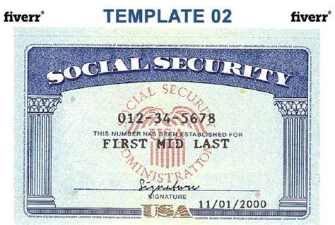 ssi card templates social security card template beepmunk
