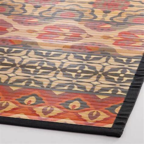 printed bamboo rug 4 x6 jaipur stripe printed bamboo area rug world market
