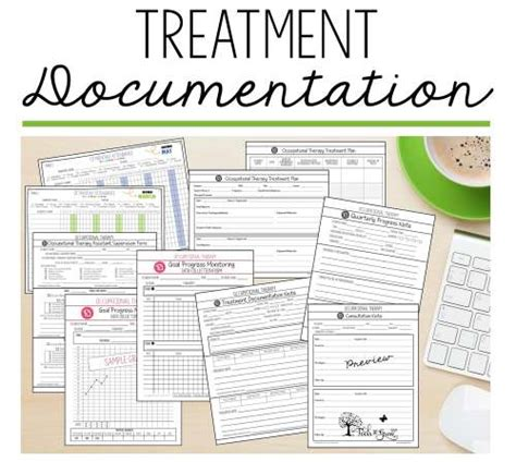 Treatment Documentation Caseload Management Therapy Resources Tools To Grow Inc Occupational Therapy Documentation Templates
