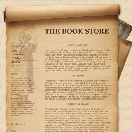 free html templates for books the book store template free website templates in css