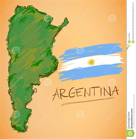 imagenes satelitales actuales de argentina vector del mapa de la argentina y de la bandera nacional
