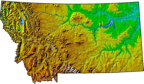 geographical map of montana map of montana 100 more photos
