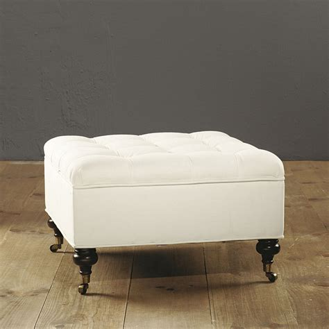 tufted storage ottoman square square tufted storage ottoman ballard designs