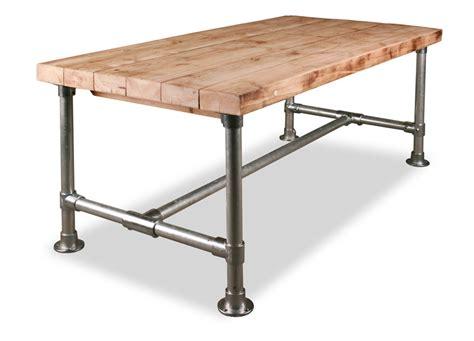 poten salontafel praxis tafel met steigerbuis onderstel wooddesign4u is