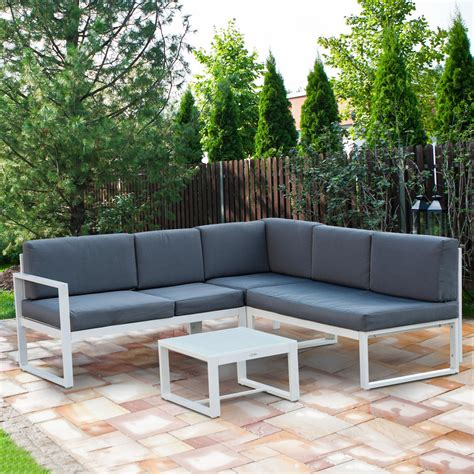 outsunny pc adjustable aluminum outdoor sectional patio