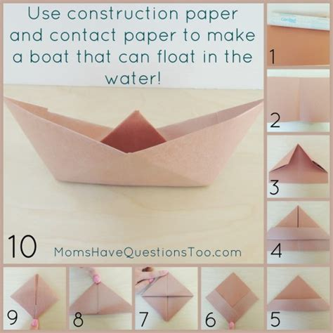 How To Make Paper Boat That Floats - origami boat and pirate ship craft