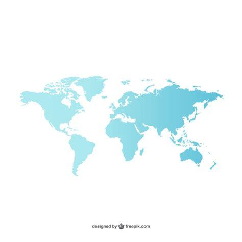 Blue World blue world map vector free