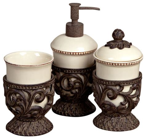 Bathroom Vanity Accessory Sets Gg Collection 3 Vanity Set Traditional Bathroom Accessory Sets By Jassa Home Collections